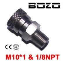 """Paintball PCP karabin pneumatyczny 8mm ze szybkozłączką odłącz łącznik 1/8 """"NPT M10 * 1 gniazdo żeńskie do napełniania"""