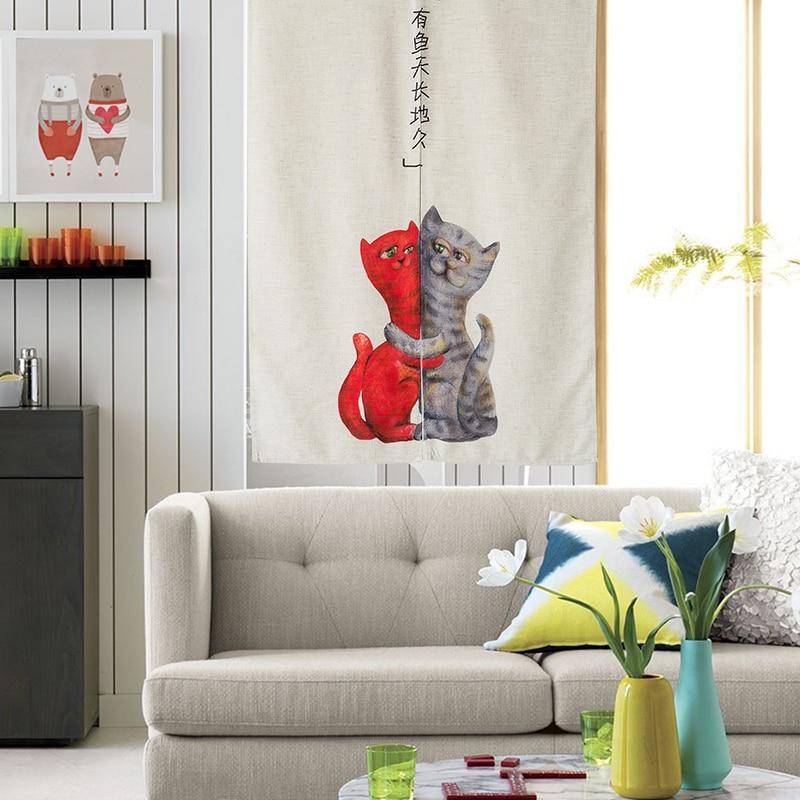 Nice Curtains Adorable Cartoon Door Curtain Feng Shui