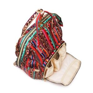 Image 4 - Рюкзак для мам с леопардовым принтом, дорожная сумка для подгузников с несколькими карманами, тканевая сумка для ухода за ребенком