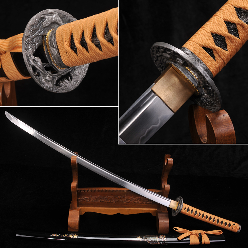 Japonês da espada do Samurai Totalmente Artesanal aço T10 + argila temperado katana Completa Tang Lâmina Katana Funcional real Muito afiada