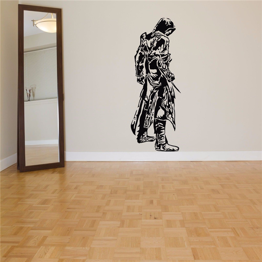 Wall Room Decor Art Vinyl Sticker Decal Video Game Hero Assassin Home Decor Wall Decals Vinyl living room Wall Sticker D447