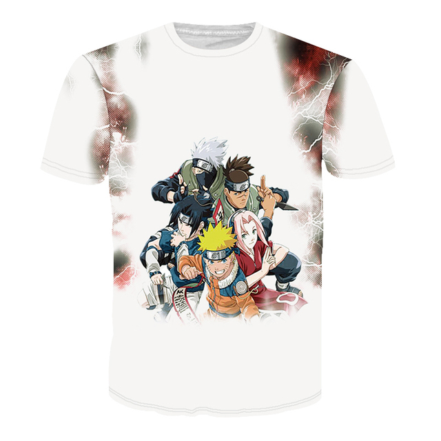 CWLSP Men's Naruto 3D T Shirt Cartoon Anime Dragon Ball Print T-shirt home Clothing Harajuku One Piece Camisetas Hombre QA998