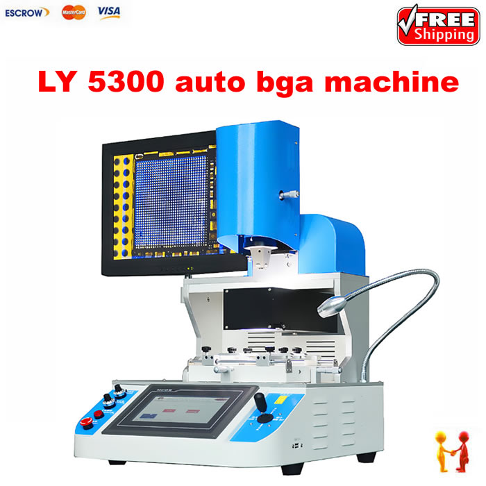Automatic BGA Rework Station LY 5300 infrared and hot air Mobile BGA Welding Machine with optical alignment optical alignment system ly 5300 mobile bga rework station 3 zones 2500w free tax to russia
