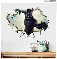 От Marvel Мстители Черная пантера прорыв разбитая стена Стикеры домашний Декор наклейки на обои плакат съемный A0107