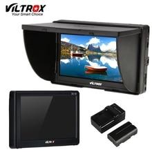 "Viltrox DC 50 휴대용 5 ""클립 온 LCD HDMI HD 비디오 카메라 모니터 및 배터리 및 충전기 Canon Nikon Sony DSLR BMPCC"