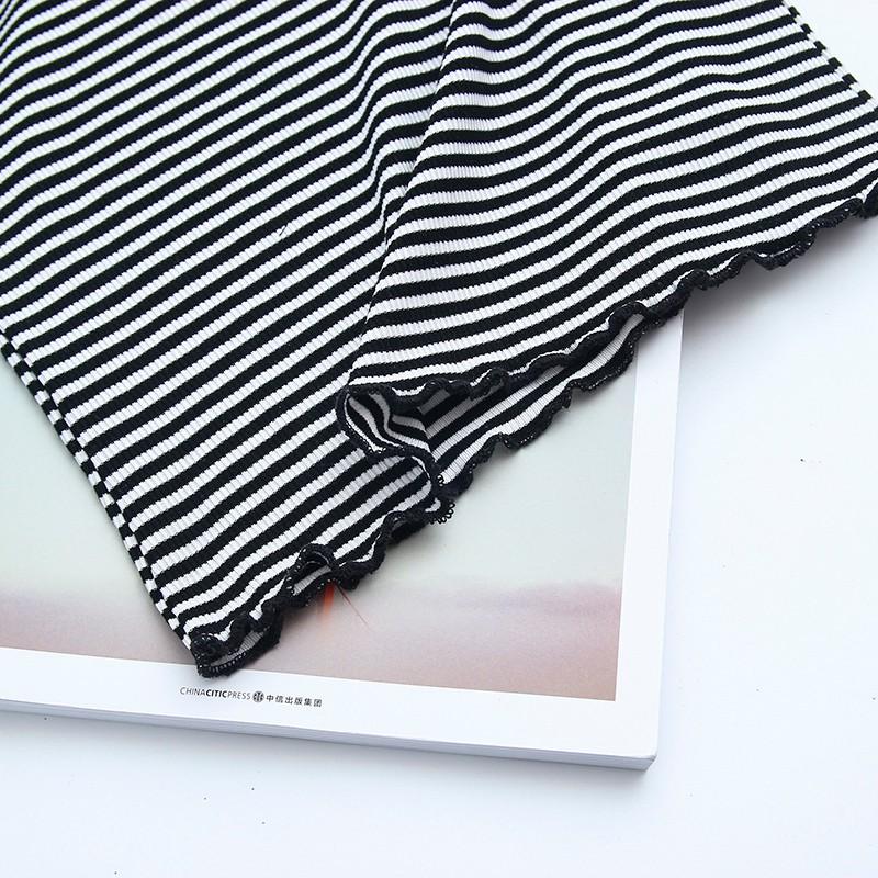 HTB1 FKLOVXXXXbCXXXXq6xXFXXXw - Striped Knitted Off Shoulder Slash Neck Short Sleeve T Shirt PTC 27