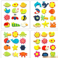 12pcs/lot  Colorful Kids Baby Wood Cartoon Child Kids Educational Toys
