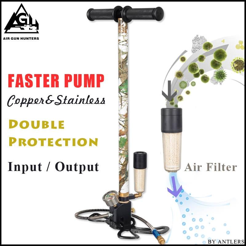 4500PSI PCP Pump Airgun Air Rifle High Pressure Pcp Hand Pump With Air Water Oil Filter 40Mpa Gauge Airsoft Paintball Pump