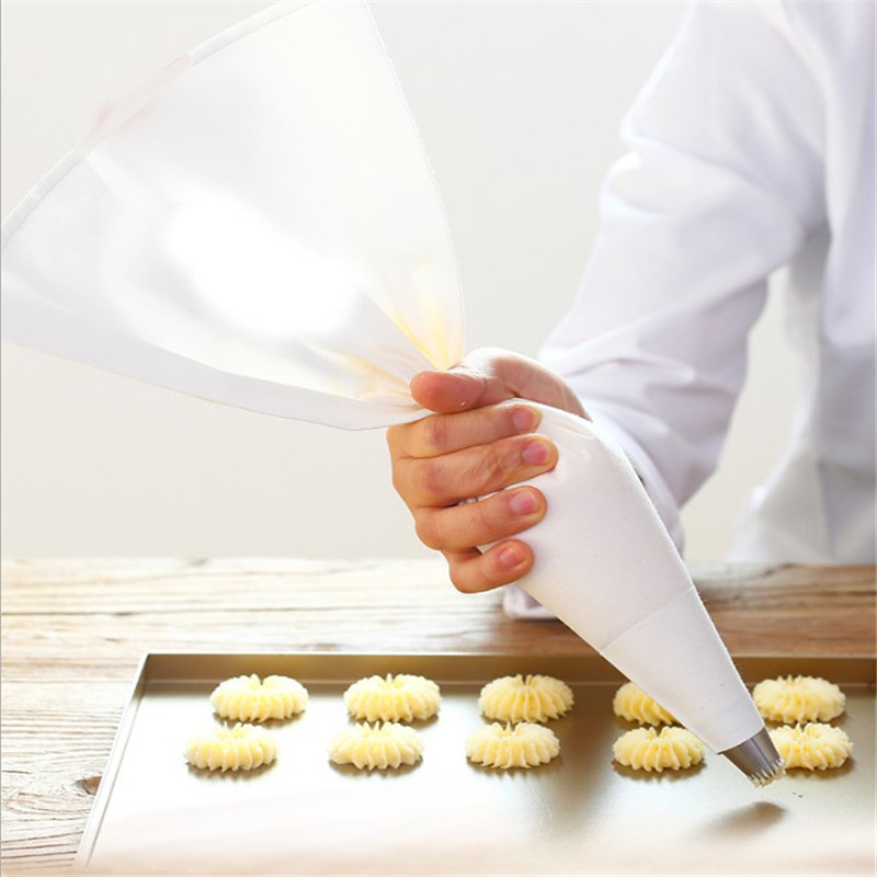 TTLIFE 6 sizes 100% Cotton Cream Pastry Icing Bag Baking Cooking Cake Tools Piping Bag Kitchen Accessories Eco Friendly Baking & Pastry Tools     - title=