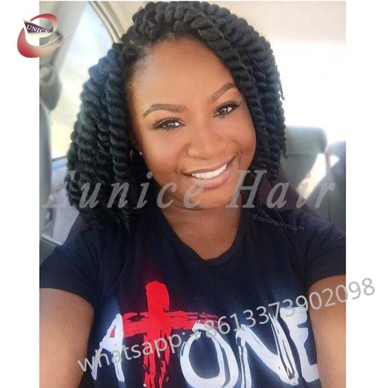 African Jumbo Havana Mambo Twist Crochet Black Braids Hairstyles