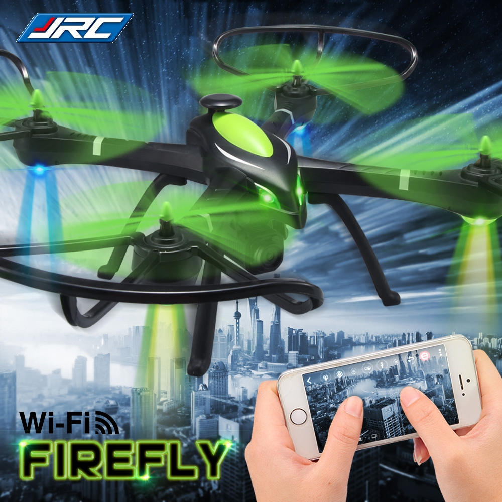 JJRC RC Drone Dron RTF WiFi FPV Firefly Drones with Camera 2.4GHz 4CH 6-axis Gyro Air Press Altitude Hold App Control Quadcopter rc drone u818a updated version dron jjrc u819a remote control helicopter quadcopter 6 axis gyro wifi fpv hd camera vs x400 x5sw
