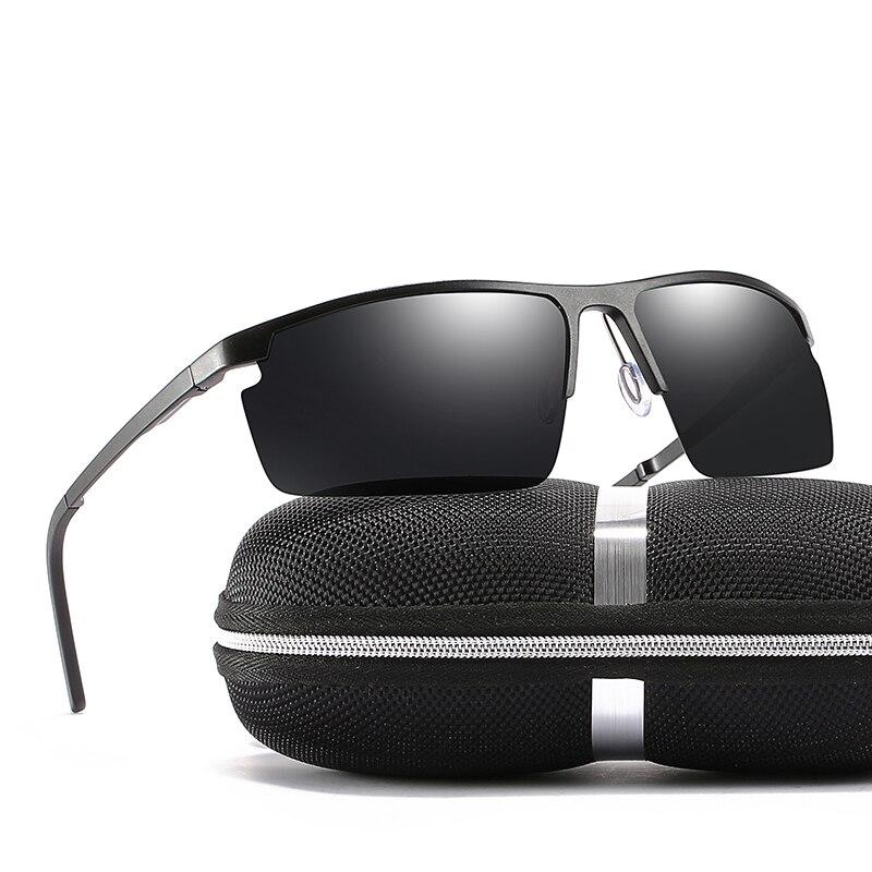 2018 New Man Black/Tea Colors Goggle Polarized Sunglasses With Bos,Case