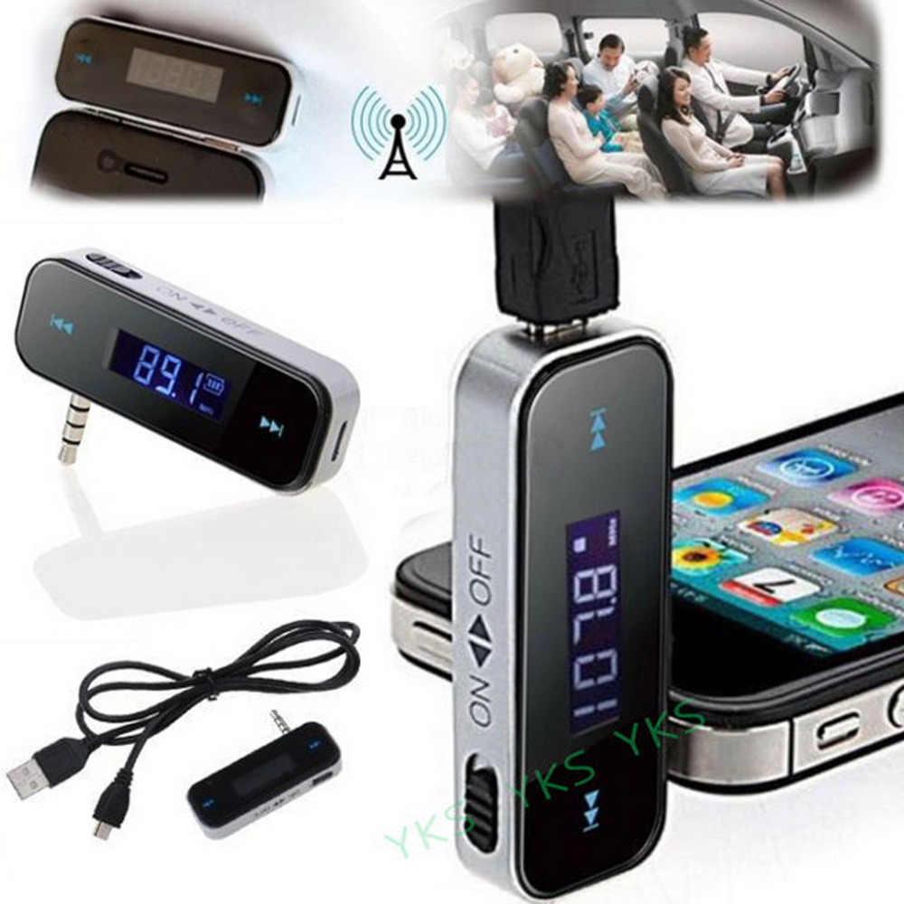 عالية الجودة سيارة مشغل MP3 3.5 مللي متر في السيارة FM الارسال آيفون 6 5 5s 5C/iPod Touch5/باد 4 جهاز إرسال لاسلكي صغير
