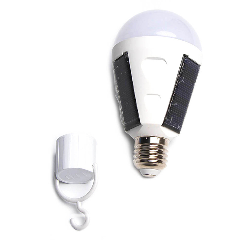 7W/12W Solar Powered LED Bulb E27 Emergency Lights Portable Camping Outdoor Garden Lamp Solar Energy Panel Charged Waterproof