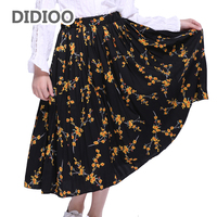 Children Chiffon Skirts For Girls Print Skirts For Kids Floral Bottoms Teenage Princess Dance Pleated Skirts