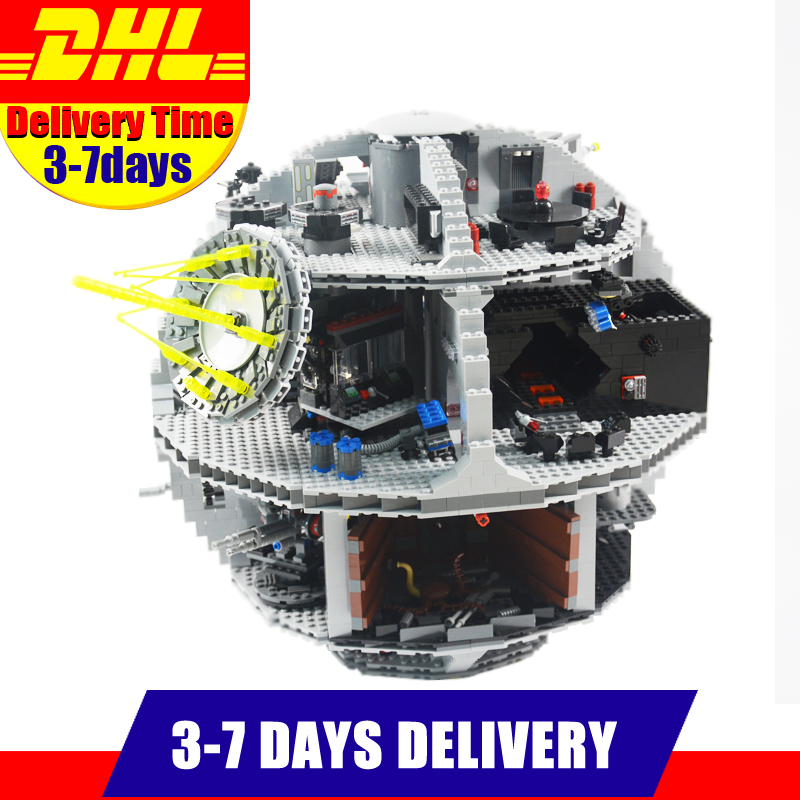 Clone 10188 DHL LEPIN 05035 3803Pcs Star Model  Death Star Model Building Kit Set Blocks Bricks Children Toy Gift clone 10188 dhl lepin 05035 3803pcs star model death star model building kit set blocks bricks children toy gift