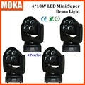 4PCS/LOT China Supplier Spot Dj Led 4*10W Beam Mini Moving Head Light for Stage Wedding Event Festival Outdoor And Indoor