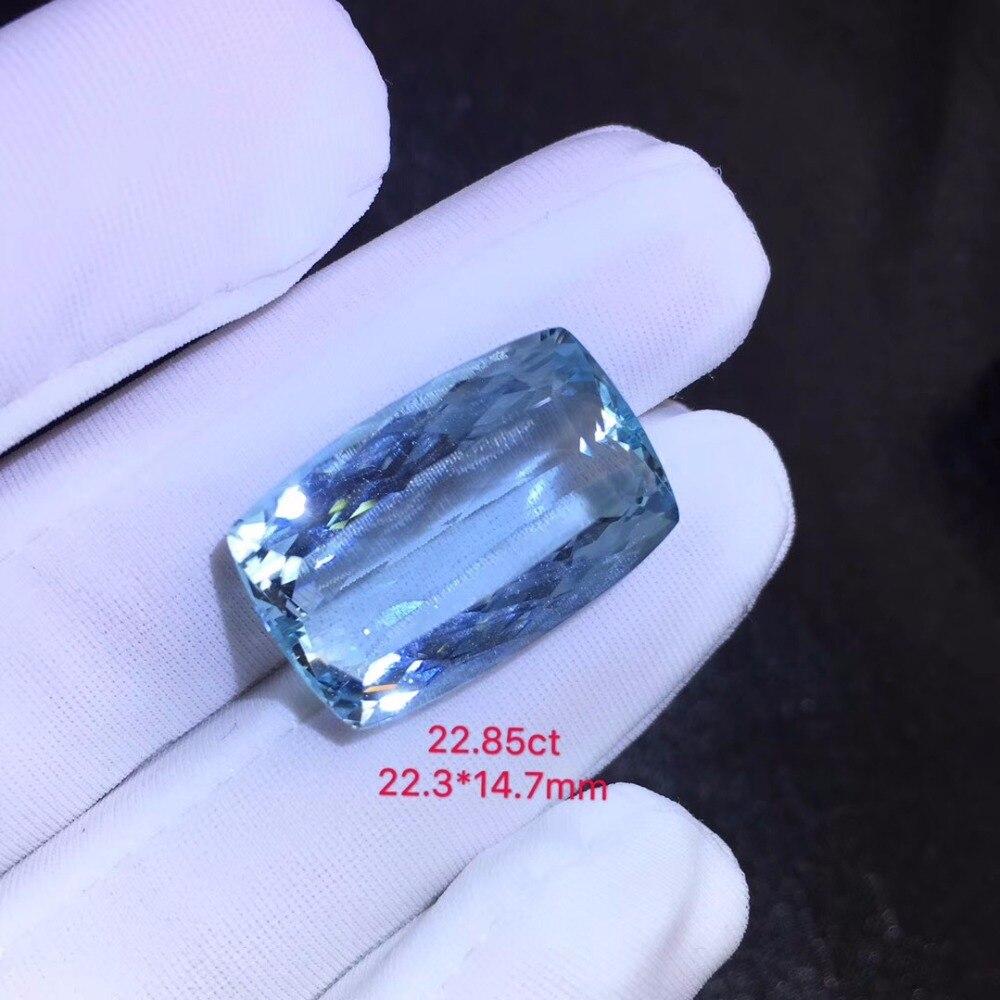 22.85ct Ntural Blue Aquamarine Gemstones Loose Stones Loose Gems