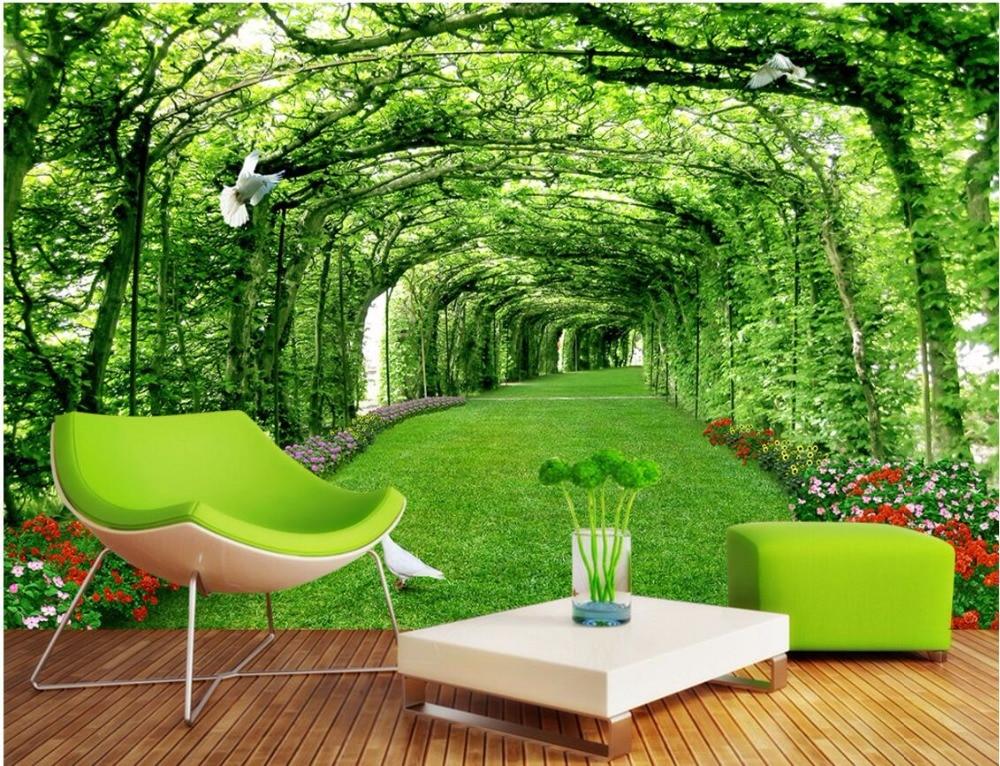 3d room wallpaper custom mural Park forest
