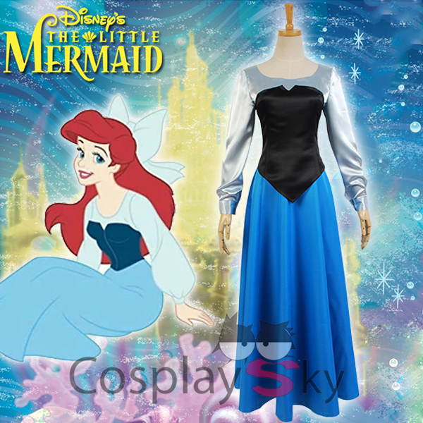The Little Mermaid Ariel Cosplay Costume Christmas Dress Stage Dress XS-L Free Shipping +Headdress the little mermaid ariel princess dress cosplay adult ariel mermaid costume women mermaid princess ariel green dress cosplay