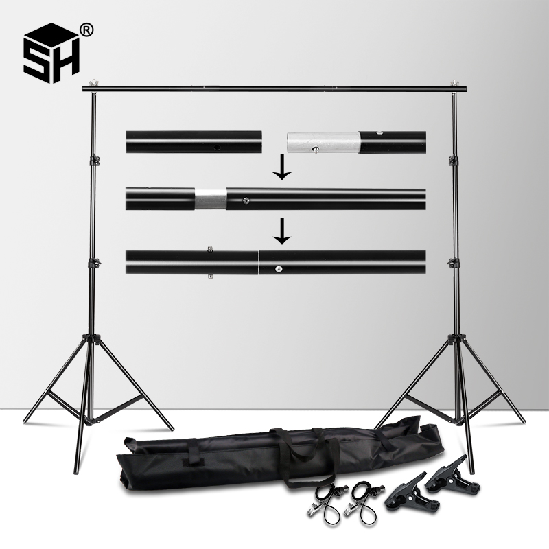 Backdrops Frame 2X3M Background Stand Support System Photography Studio Background Holder Photo & Camera Accessories + Carry Bag