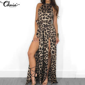 Women Sexy Jumpsuit Celmia Long Playsuit Rompers Overalls