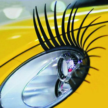 1 Pair Fashion Cute Car Styling Stickers Eyelashes Vehicle Headlight Decorative Sticker On Acessories Drop Shipping