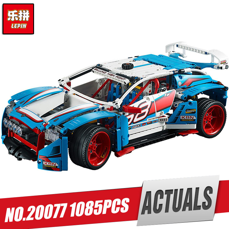 Lepin 20077 Genuine Technic Series The Rally Car Set 42077 Building Blocks Bricks Educational LegoINys Toys as Children Gifts ynynoo lepin 02043 stucke city series airport terminal modell bausteine set ziegel spielzeug fur kinder geschenk junge spielzeug