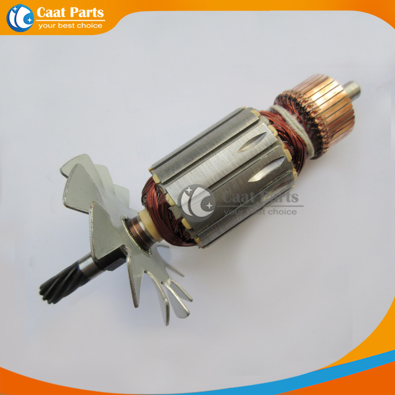 Free shipping! AC 220V 9-Teeth Drive Shaft Electric cutting machine Armature Rotor for Makita LS1020 LS1030, High-quality! ac 220v electric cutting machine armature part motor rotor for bosch tgh 6ba