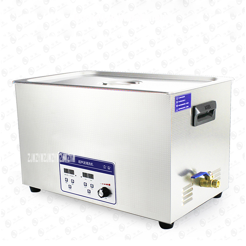 1pc globe Promotion Ultrasonic Cleaner 30L Industrial Equipment Stainless Steel Cleaning Machine JP-100ST