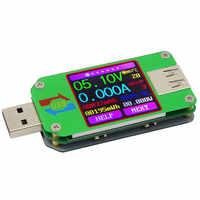 UM24C tester di tensione di corrente Voltmetro amperimetro di carica della batteria misura di resistenza del cavo 2.0 Display LCD A Colori USB Tester39 %