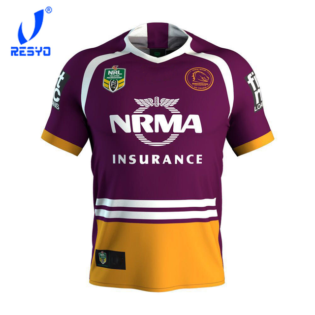 RESYO 2018-2019 Brisbane Broncos RUGBY JERSEYS FULL SERIES Top Quality Free  ship 0116216a2