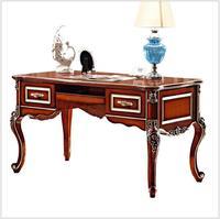 Французский в стиле барокко роскошный представительский офисный стол / европейский классический резьба по дереву письменный стол / ретро д