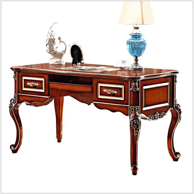 US $560.0 |French Baroque Style Luxury Executive Office desk/ European  Classic Wood carving Writing table/ Retro Home Office Furniture 900-in ...