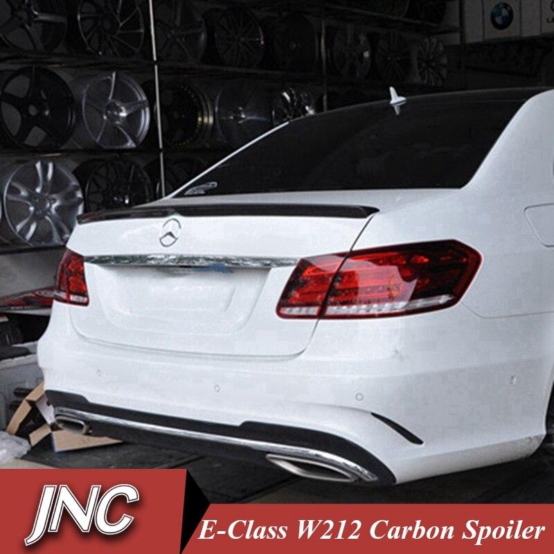 AMG Style For Mercedes W212 spoiler e class 4-Door sedan e200 e250 e260 e63 carbon fiber rear trunk spoiler wing 2010 - UP 4 door mercedes m class 1998 2004 nld smerm9832