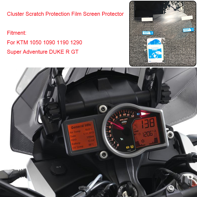 For KTM 1050 1090 1190 1290 ADV GT 1290 Super Adventure DUKE R Cluster Scratch Protection Speedometer Film Screen Protector