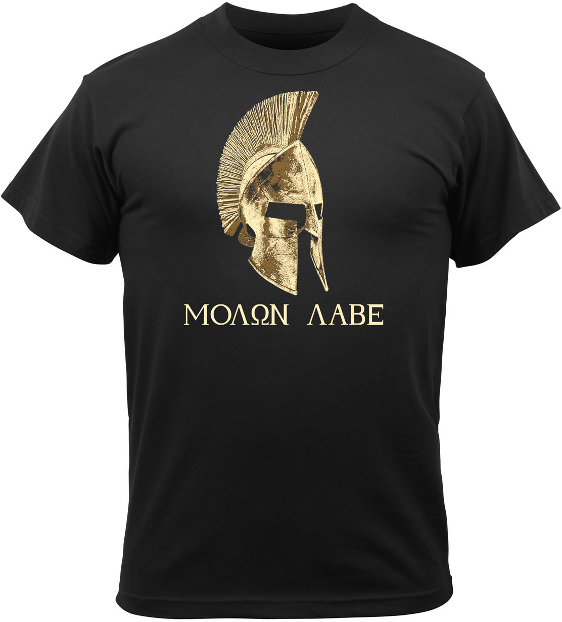 Classical Black Molon Labe Spartan Helmet Warrior Printed Mens Cool Tops Hipster Style T-Shirt