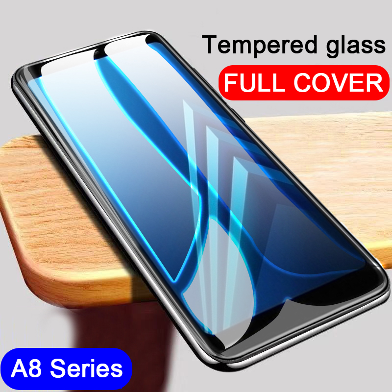 Full Tempered glass screen protector on the for Samsung Galaxy A80 2019 A8 Plus 2018 A8S A 8 A8plus <font><b>A82018</b></font> protective glas films image