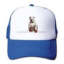 89386c4b2b0 Boxing English Bulldog Fighter Men Fitted Mesh Hat Baseball Caps(China)