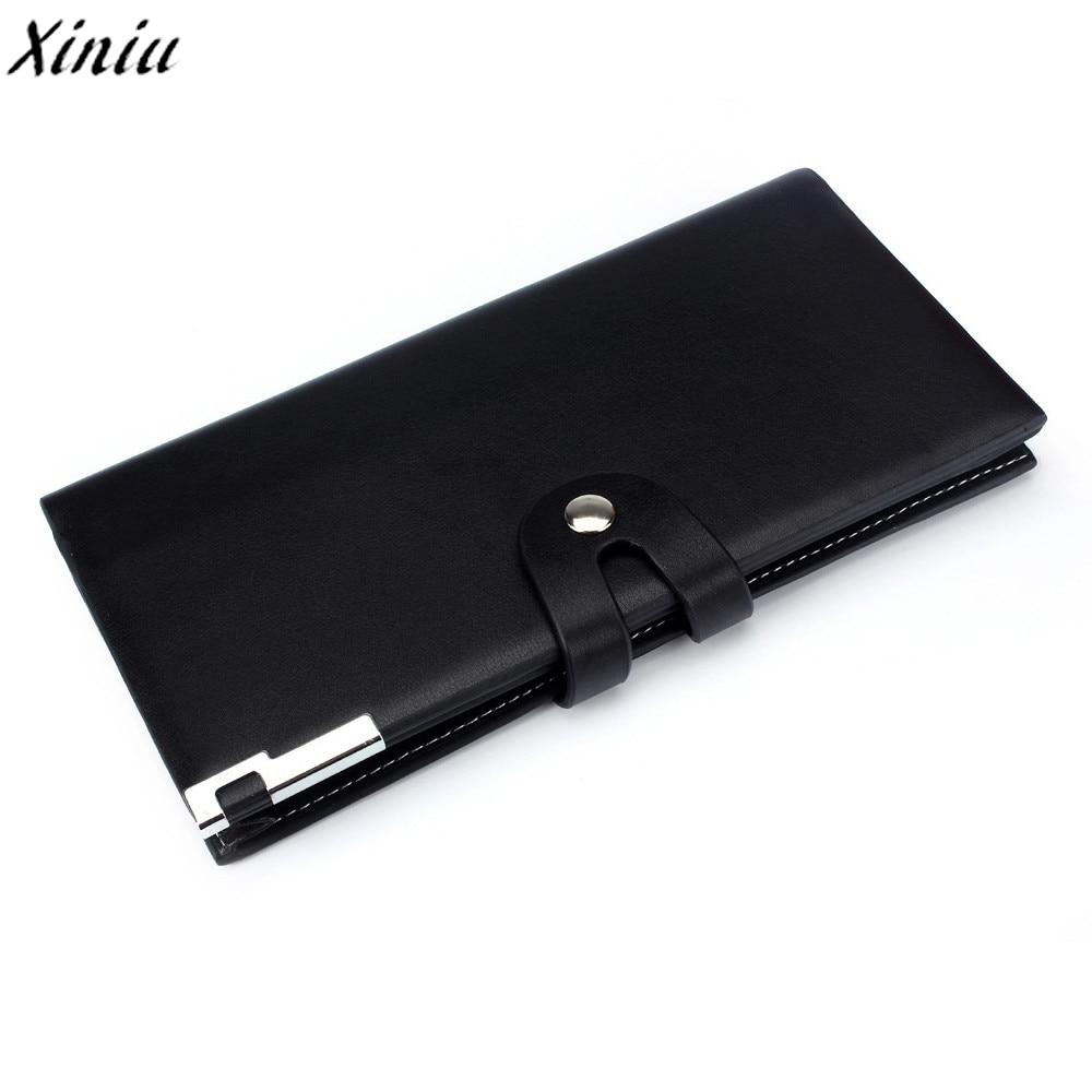 Men Wallet Long Section Button Bifold Business Leather Purse Male Business Style Wallet Portefeuille Homme #7605 zelda wallet bifold link faux leather dft 1857