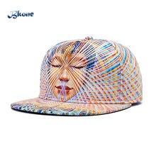 BKONE Snapback Hip Hop Cap 3D Sexy Lady Flat Brimmed Casquette Casual Sun Hats Women Adjustable Baseball Caps