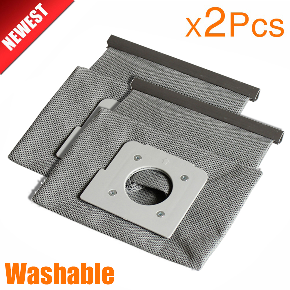 2Pcs New Washable Vacuum Cleaner Bags Hepa Filter Dust Bag Cleaner Bags For LG V-743RH V-2800RH V-943HAR V-2800RH V-2810