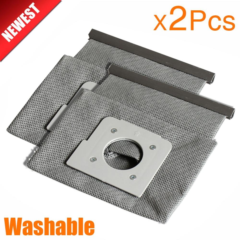 2Pcs New Washable Vacuum Cleaner Bags Hepa Filter Dust Bag Cleaner Bags For LG V-743RH V-2800RH V-943HAR V-2800RH V-2810