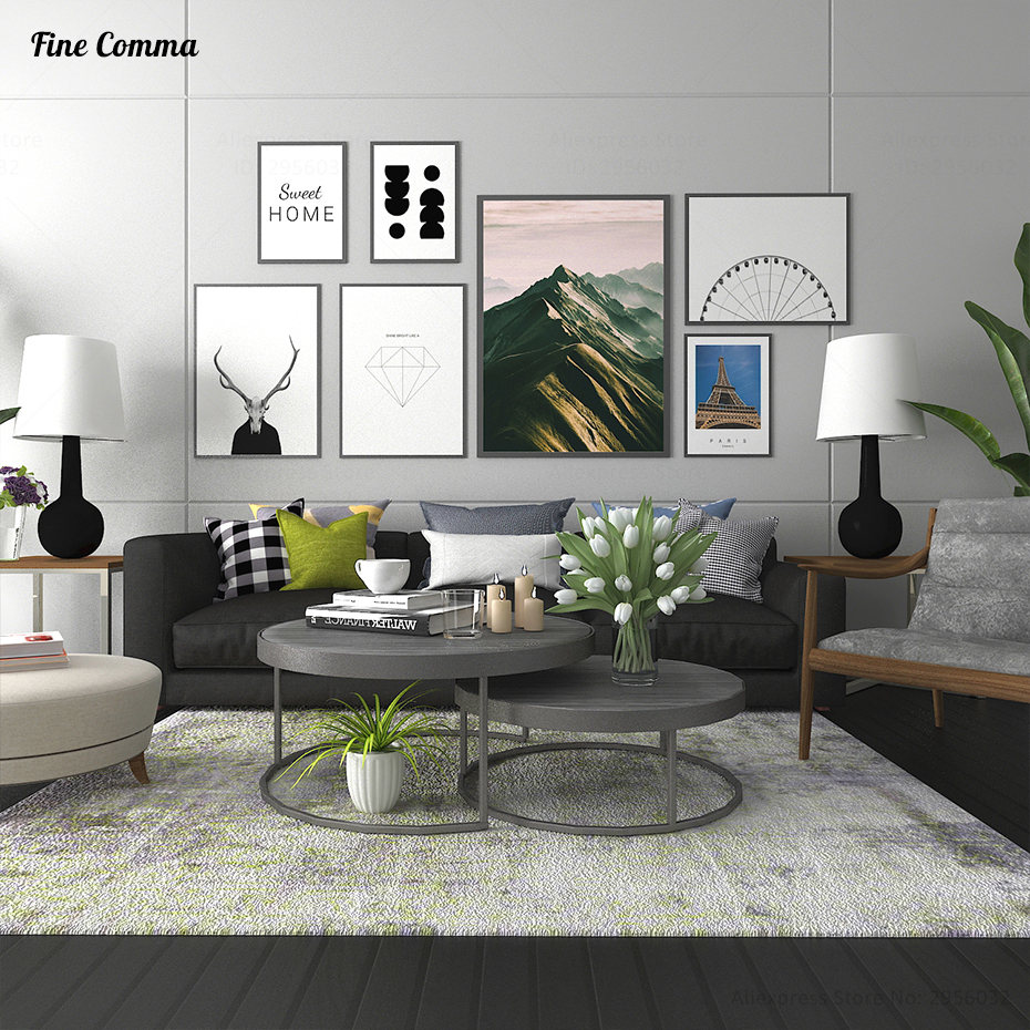 Scandinavian Decor Sweet Home Diamond Nordic Art Decor Posters and Prints Wall Picture for Living Room Wall Art Canvas Print