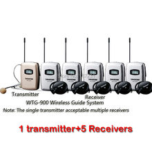 Takstar WTG-900 цифровой беспроводной гид/Talkback система использования для беспроводного синхронного перевода и т. д. 1 передатчик+ 5 приемников