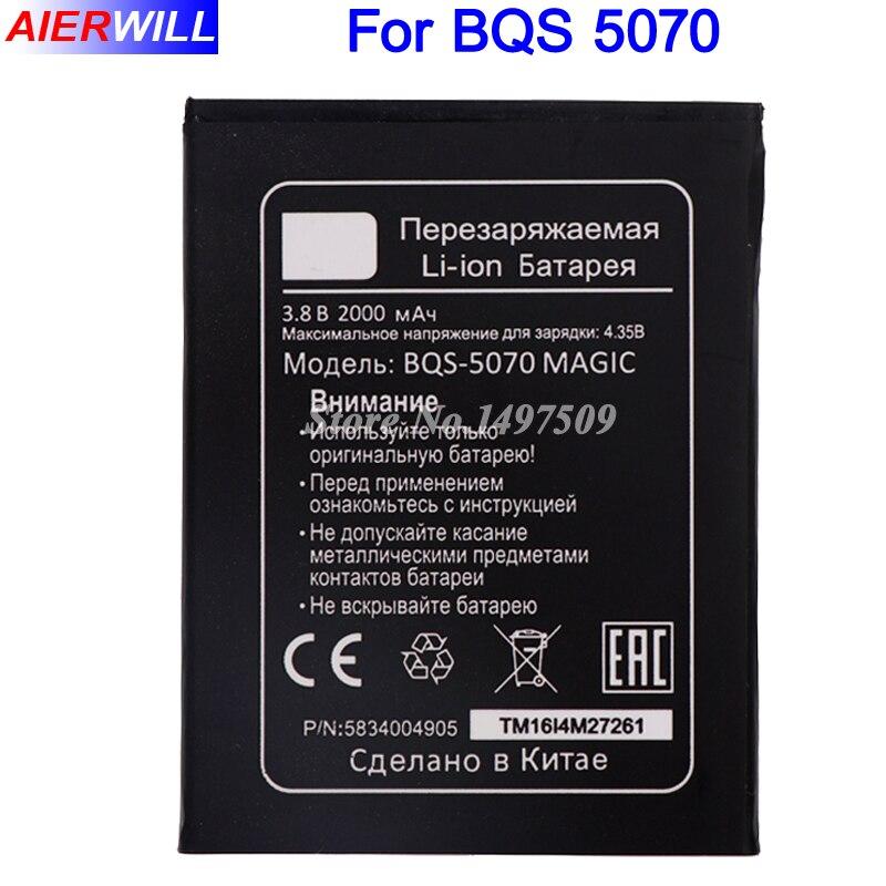 Bqs-5070 BQS 5070 bqs5070 Батарея для BQ bqs-5070 Magic Nous NS 5004 Bateria Batterij аккумулятор 2000 мАч