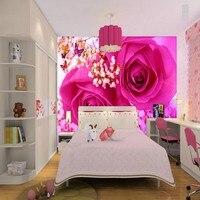 Niestandardowe 3d tapety Nowoczesny design wysokiej jakości kolorowe rose 3d malowidła ścienne tapety Pokój tle dekoracji