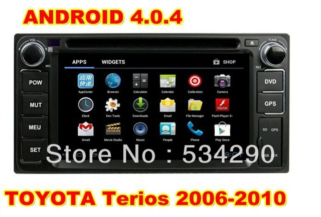 6.2 inch Android 4.04 TOYOTA Terios 2006-2010 CPU Cortex A10  Car DVD GPS Player Radio PIP 3D Free 4G Map & WIFI Dongle
