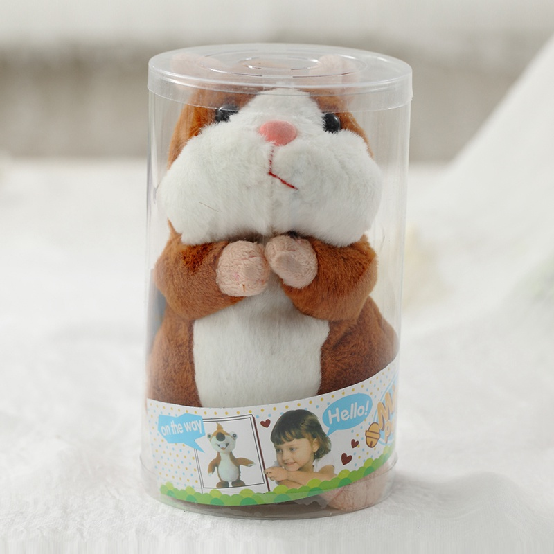 Talking Hamster Mouse Pet Plush Toy Hot Cute Speak Talking Sound Record Hamster Educational Toy for Children Gift 2018 talking hamster mouse pet plush toy learn to speak electric record hamster educational children stuffed toys gift 15cm