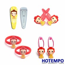 лучшая цена Hotempo Beauty and Beast Belle Princess Action Figure Girlish Action Fgure Suit Hair accessories Hair Band Hair Ring Hairpin
